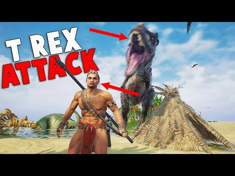 This Game is EPIC! T-Rex Attack! New Dinosaur Game (Claw