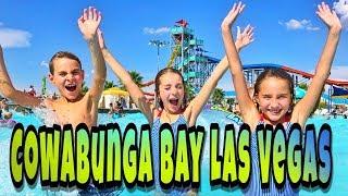 COWABUNGA BAY water park in Las Vegas with Las Vegas Triplets