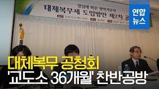 """대체복무 최종공청회서 '교도소 36개월' 찬반공방…""""이달확정"""" / 연합뉴스 (Yonhapnews)"""