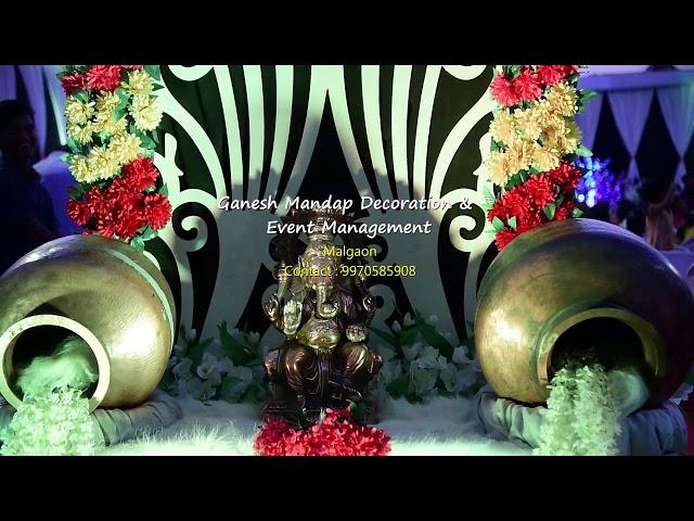 Ganesh Mandap decorations & Event management #Malgaon # decoration work video