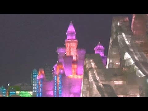 Frozen fantasy in China's northeastern city of Harbin attracts thousands of tourists