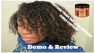Demo/review| Wash N' Go: Pantene Truly Natural Defining Curls Styling Custard