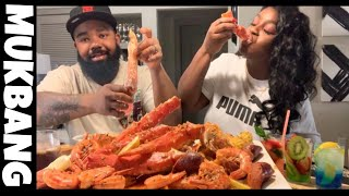 JUICY KING CRAB AND SHRIMP EATING SHOW