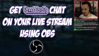 How To Get Twitch Chat On Your Live Stream (Using OBS & NightDev)