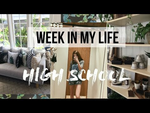 High School Week In My Life | working out, studying, work!