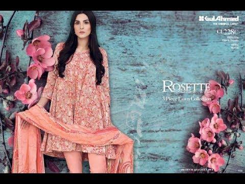 d5631d722f Gul Ahmed Festive Eid Collection 2017 2018 Lawn Silk Net Chiffon Dresses