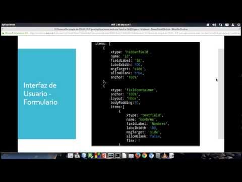 15 Desarrollo simple de CRUD - PHP para aplicaciones web con Sencha ExtJS 6