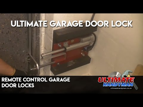 Remote control garage door locks