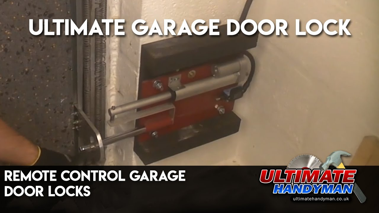 Remote Control Garage Door Locks Youtube