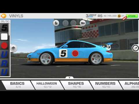 Real Racing 3: -Tuning Porsche 911 GT3 RS In Gulf Livery Custom Vinyls Ideas
