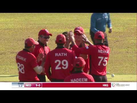 HKG v NED 1st innings (Match 1)