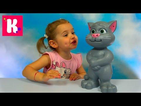 Кот Том говорящая интерактивная игрушка из компьютерной игры Tom Cat funny toy unboxing