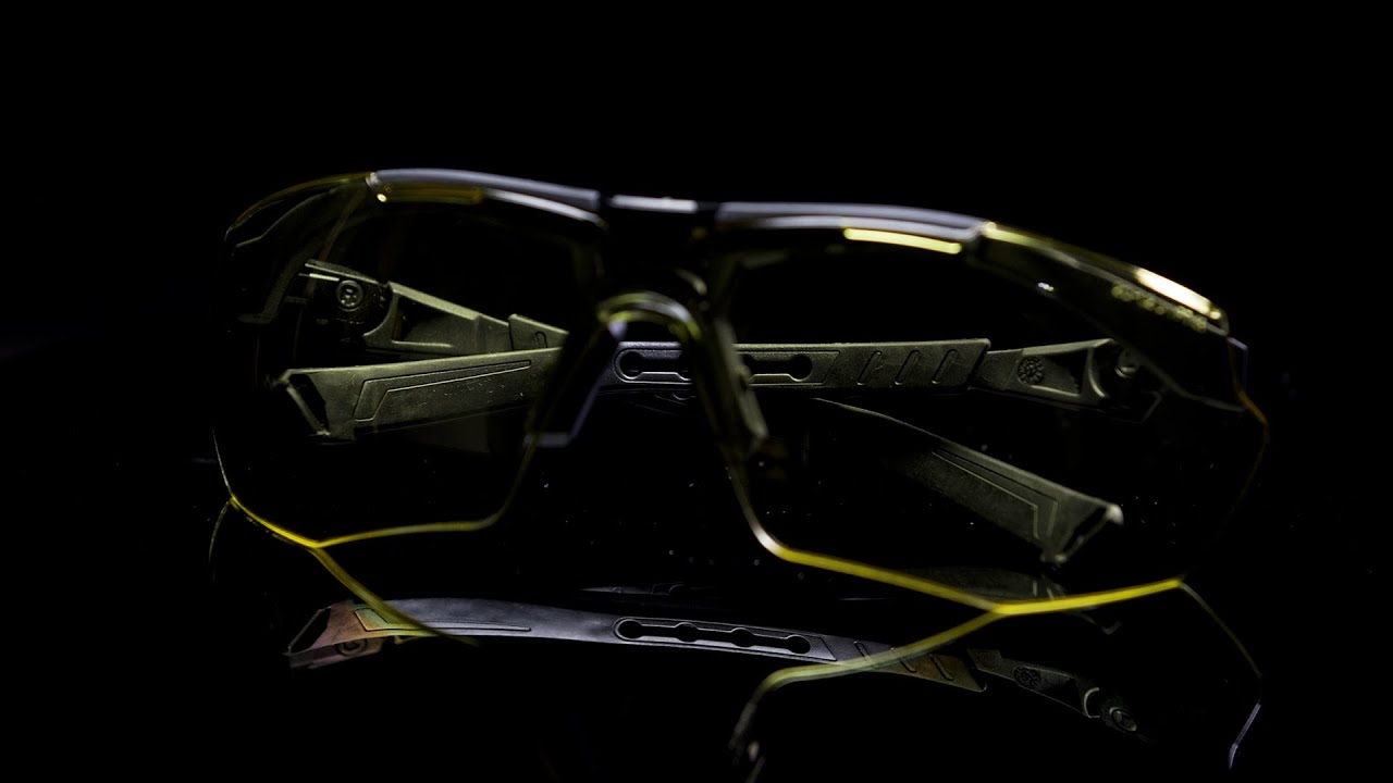 """NoCry Safety Glasses with Blue Light Blocking """"Floating"""" Yellow Lenses"""