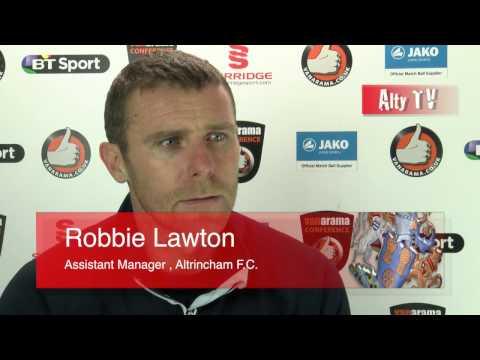 Altrincham Vs Stalybridge - Post Match Interview; Robbie Lawton
