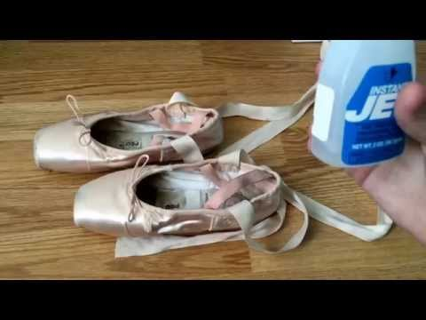 How To Jet Glue Pointe Shoes for Ballet | Roma Watkins