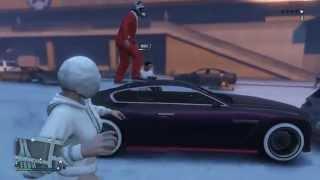 【GTA5 実況】 黒の車に雪玉を投げつけ真っ白に染められるか!? クリスマスアップデート紹介 オンライン thumbnail