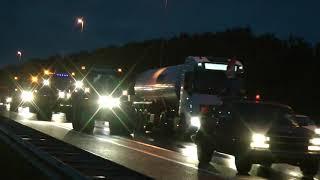 Boeren actie veel tractoren trekkers op de  A12 Waarder Dinsdag 01-10-2019