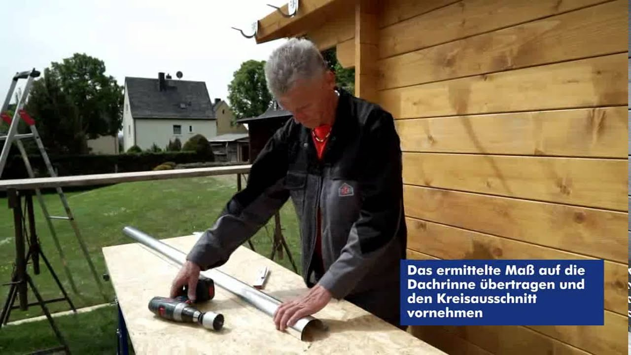 dachrinnenmontage und verwendung der rinnenträgerkonsole - youtube