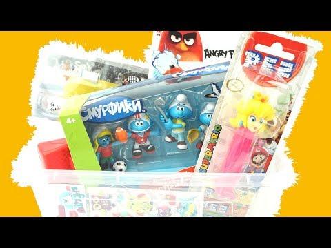 Распаковка сюрпризов и игрушек. Целая куча игрушек для детеи. Видео для малышеи. Игрушка и сюрприз