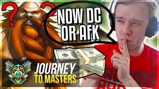 PAYING ENEMY TO DC & AFK?!?...FREELO - Journey To Masters #49 S7 - League of Legends