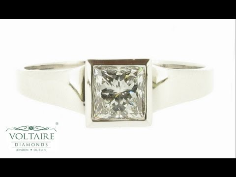 Princess Cut Engagement Ring With Bezel Setting