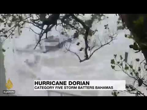 Hurricane Dorian Hits Bahamas Like An Atomic Bomb | Actual Footage