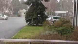 Un orage de grêle sur Angers
