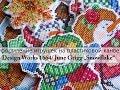 """Оформление игрушек на пластиковой канве: Design Works 1664/June Grigg """"Snowflake"""" K-904"""