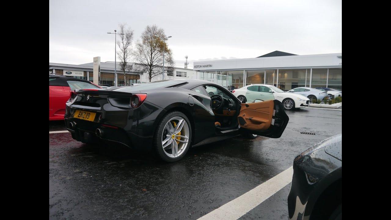 Ferrari 488 Start Up Revs Interior In Belfast Rhd In Black Youtube