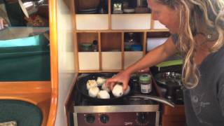 Cooking On A Boat With Kirsten Episode 1 - Grilled Riceballs