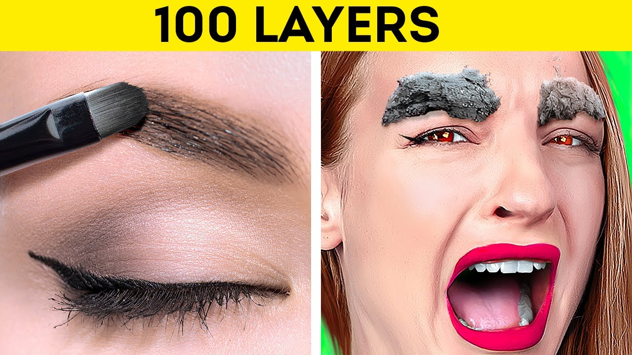 Download 100 LAYERS CHALLENGE    Ultimate 100 Layers Of Food, Makeup, Clothes, Toilet Paper by 123 Go! GENIUS