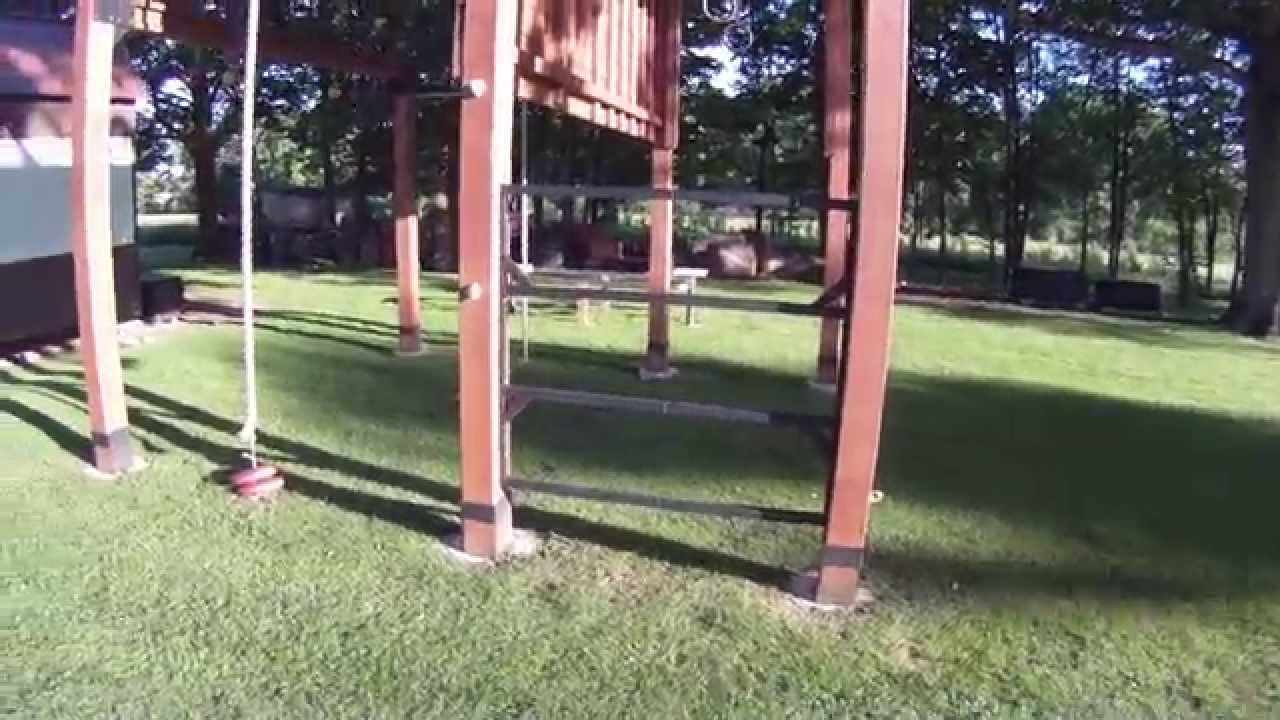closer look at my outdoor backyard gym youtube
