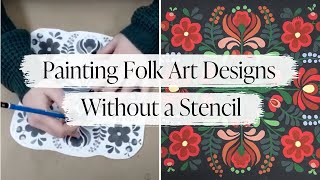 Painting Folk Art Designs Without a Stencil | Folk Art Painting Techniques with Country Chic Paint