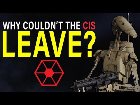 Why couldn't the SEPARATISTS legally leave the REPUBLIC? | Star Wars Lore