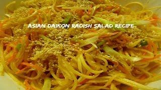 Asian Daikon Radish Salad Recipe