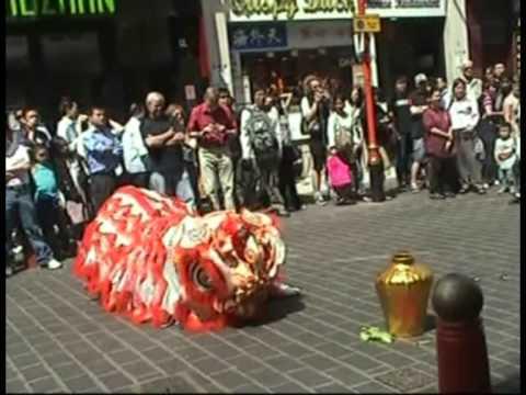 忠信龍獅團Waterside Lion Dance - London Chinatown part 2