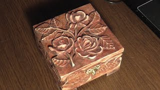 How To Make A Wood Carved Jewelry Box With Roses