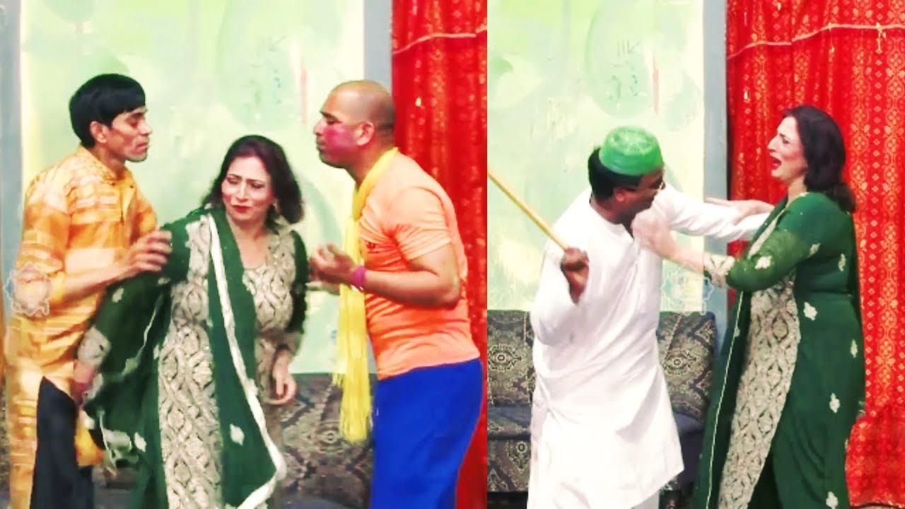 Abida Baig With Goshi 2 and Tahir Anjum New  Stage Drama Comedy Clip 2020