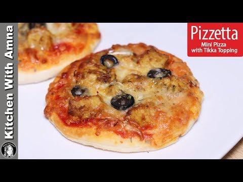 Pizzetta Recipe | Mini Pizza With Tikka Topping | Kitchen With Amna