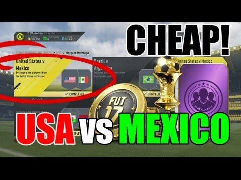 USA v MEXICO Cheap Solution! | Squad Building Challenge Guide | FIFA 17