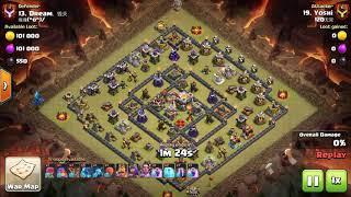 1.25 mins attack !! *OP* Th11 E drag Bat spells Coc Clash of clans 3 stars