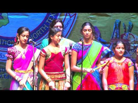Kids singing devotional songs at TANTEX Sankranti Celebrations - 2016