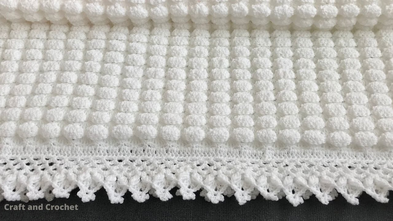 Easiest Crochet Baby Blanket Pattern Ever   12 Row Repeat Crochet ...