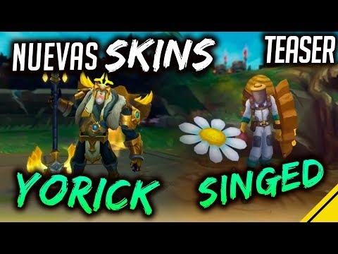 NUEVAS SKINS - Singed APICULTOR y Yorick ARCO de LUZ | Noticias League Of Legends LoL