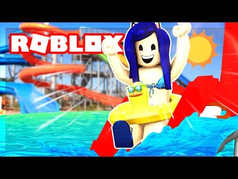 I SPENT 24 HOURS IN A ROBLOX WATER PARK! (Roblox Roleplay)