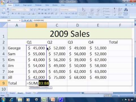 how to use basic excel 2007