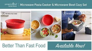 Pampered Chef MICROWAVE BOWL COZY SET of 2 Protect your hands Large /& Small