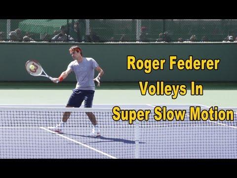 Roger Federer Volleys In Super Slow Motion