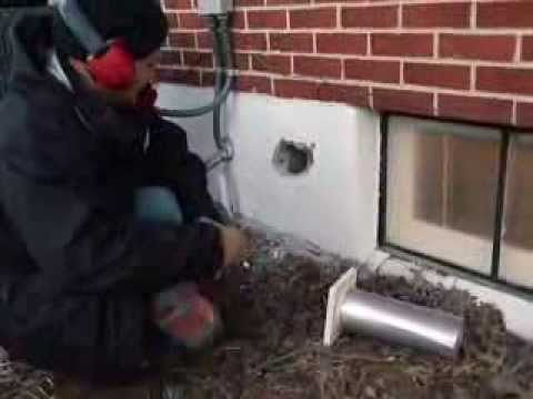 Dryer Vent Installation Through Block Wall Youtube