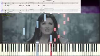 Голос - А.Нетребко и Ф. Киркоров (Ноты и Видеоурок для фортепиано) (piano cover)